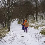 登山口の雪