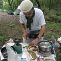 アカヤマドリを調理
