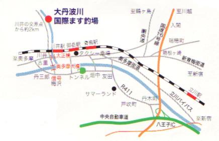 大丹波国際鱒釣り場地図