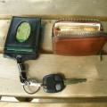 ETCcard入れ付きキーホルダーと小銭入れ