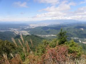 山頂からの景観