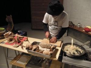 蜂須賀さん料理の下準備