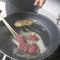 三才の雄鹿肉を料理