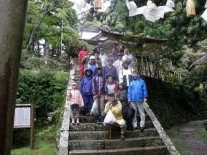 玉置神社にて参拝