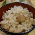 アカモミタケの炊き込みご飯