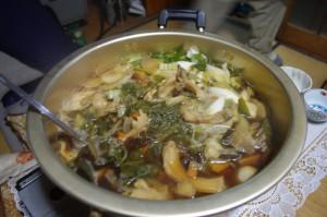 ミノル風、キノコ鍋