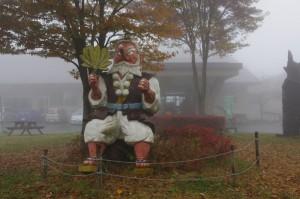 濃霧の中の天狗