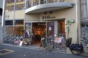 店舗前にて F.I.Gバイク