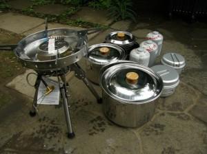 剛炎とコッフェルと鍋