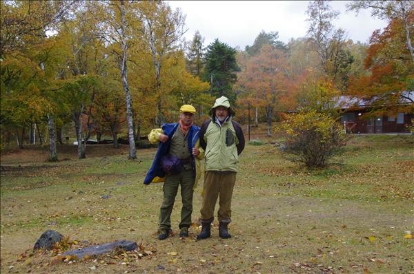 釣り、キノコ仲間の箱嶋さんと牛島さん