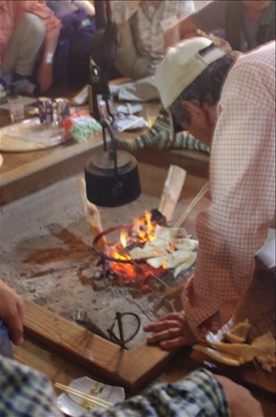 オオイチョウタケの直火焼き