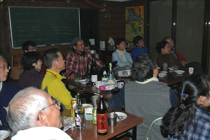 最後にスライドで、蜂須賀さんの野生食材の料理と 心に残る人達の話